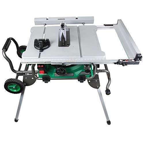 Metabo HPT Table Saw, 10' Blade, 35' Rip Capacity, Fold & Roll Stand, 8 x 13/16' Dado Capacity,...