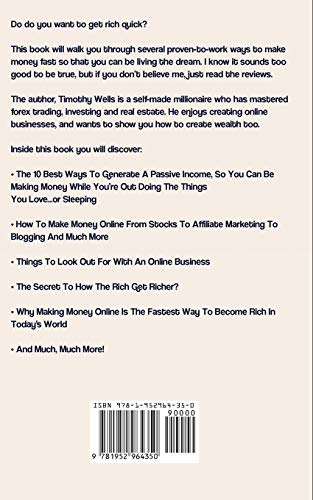 415hBNLwS0L - Get Rich Quick: How to Make Money Online