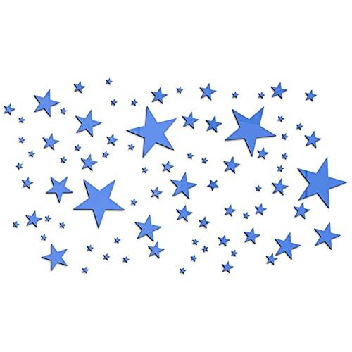 SDFLKAE Pegatinas de espejo de estrella removibles de acrílico espejo de ajuste de la etiqueta engomada de la pared para la decoración del hogar