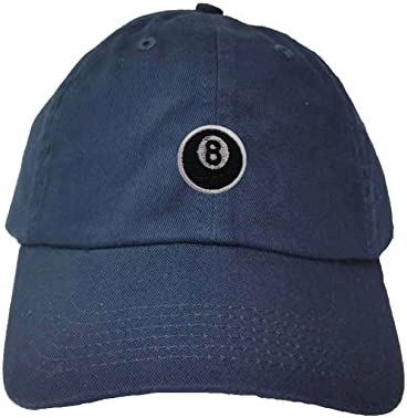 Adult 8 Ball Embroidered Visor Dad Hat