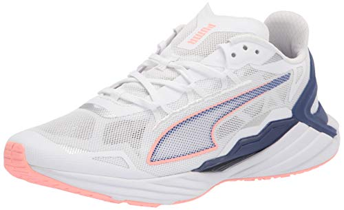 PUMA Women's 19375607 Running Shoe, White-Elektro Peach, 8.5