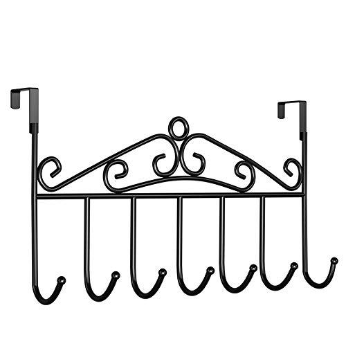 WLABCD Appendiabiti Detrás de la Puerta Ganchos de Clavija Pared Grucce Barra de Ropa de Colgando Ganchos para Abrigo Rama Ganchos de Pared Montado en la Pared/Un negro / 42X23CM