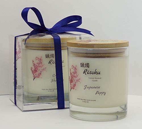 Vela perfumada de lujo de amapola japonesa (220 g tradicional/bambú)