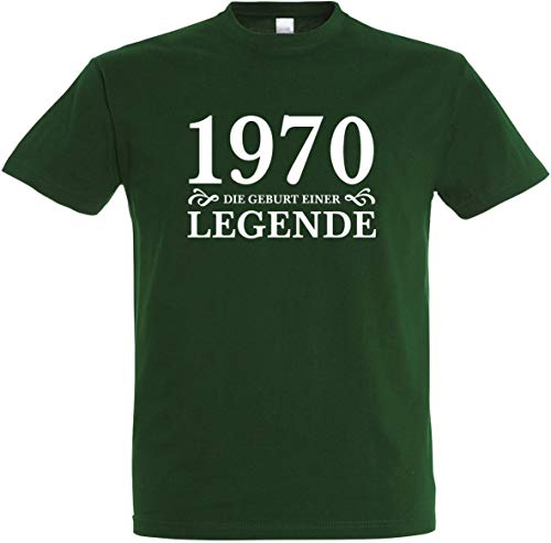 Herren T-Shirt 50. Geburtstag 1970 Die Geburt Einer Legende S bis 5XL (Flaschengrün, XL)