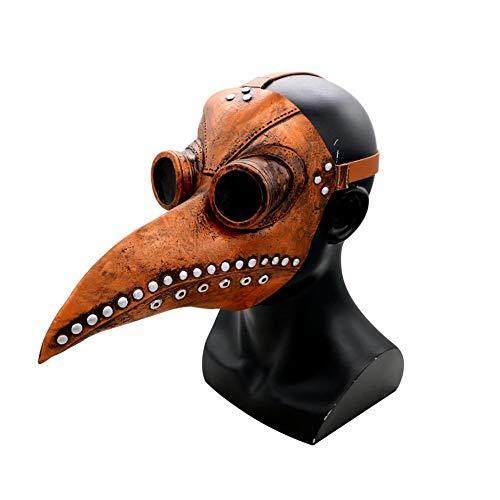 Tingtin Máscara del Doctor de la Plaga Accesorios de Halloween Traje Steampunk gótico Cosplay Retro Bird Mask para Accesorios de Fiesta Cosplay