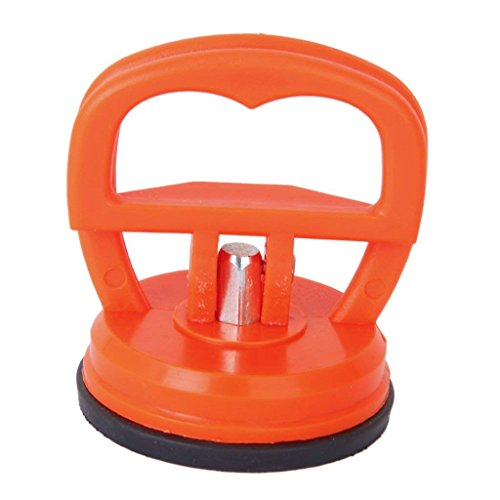 Aofocy Dent Reparatur Puller Heber Telefon Glas Saugnapf Sucker Bildschirm Werkzeug für die Reparatur von Handys, Computer, Auto Dellen usw. (Orange Rot)