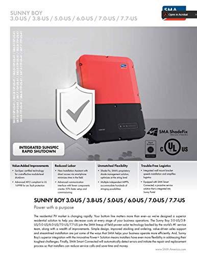 SMA Sunny Boy 7.7-US 7700W Grid Tie Inverter