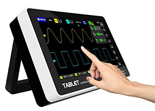 Digitales Oszilloskop, digitales Touchscreen Speicheroszilloskop Kit, mit 2 Kanal 7 Zoll Bildschirm mit 100 MHz Bandbreite, multifunktionales, ultradünnes, tragbares USB-Oszilloskop