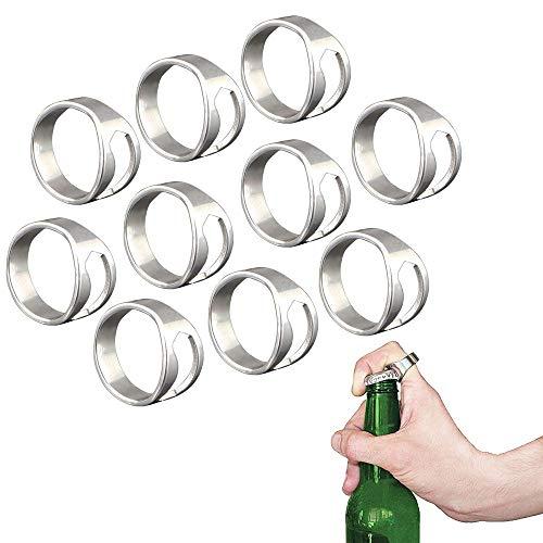 Anillos abridores de cerveza de acero inoxidable