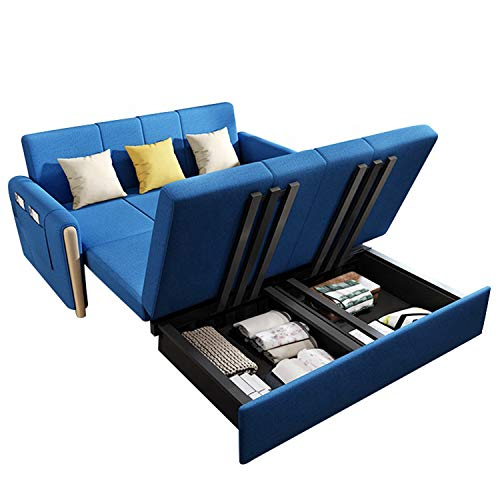 YUYTIN Wood Daybed with Storage Drawers, Twin Daybed Sofa Bed Frame for Bedroom, Guest Room, Living Room