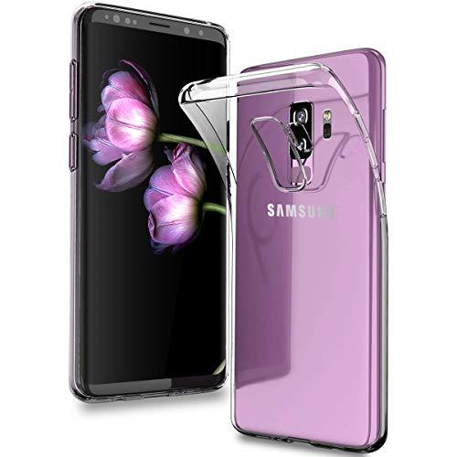 DOSMUNG Hülle kompatibel mit Samsung Galaxy S9 Plus, Transparent Handyhülle für Galaxy S9 Plus Schutzhülle, HD Soft Silikon Anti-Kratz Rückseite Backcover TPU Case für Samsung Galaxy S9 Plus / S9+
