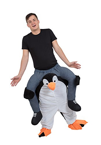 Bristol Novelty AF005 Penguin Piggy Back Costume, Black, 38/40-Inch Waist Size