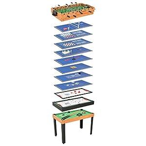 vidaXL Mesa de Multijuegos 15 en 1 Casa Hogar Jardín Bricolaje Diversión Entretenimiento Deporte Juegos Juguete Pasatiempo 121x61x82 cm Color Arce
