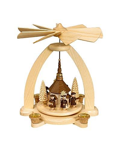 Volkskunstwerkstatt Unger Tischpyramide - Kerzenpyramide Seiffener Kirche - Original Erzgebirge® #0810