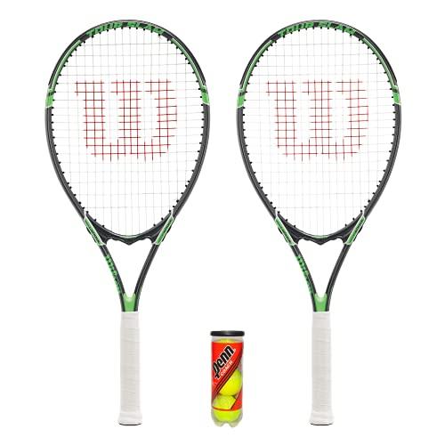 Wilson Tour L3 - Juego de raquetas de tenis (2 unidades y 3 pelotas incluidas)