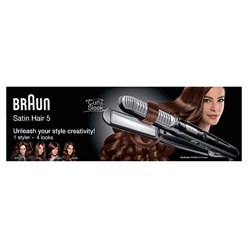 Braun Satin Hair 5 Haarglätter ST550, Keramik-Multistyler mit Curl Shaper
