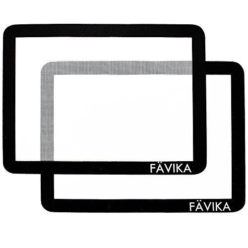 "Silicone Baking Mat Set (11"" x 15"" Half Sheet) Premium 100% Non-Stick Baking Mat - Professional Grade Silicone Cookie Sheet - FREE Recipe eBook By FAVIKA"