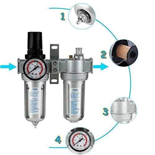 Air Filter Regulator, SFC400 Aluminiumlegierung 1/2