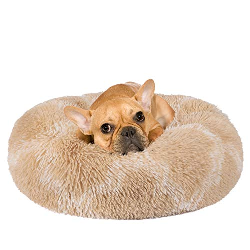 INVENHO Orthopedic Dog Bed Cat Bed for Small Medium Dogs Pet Bed Donut Cuddler Round Soft Calming...