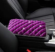TRUE LINE Automotive Soft Diamond Car Center Console Armrest Elbow Cushion Comfort Pillow Pad (Purple)
