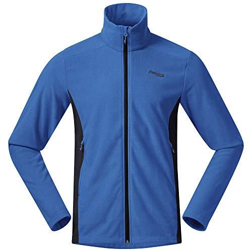 Bergans Finnsnes Fleece M Jacket Blau, Herren Freizeitjacke, Größe XXXL - Farbe Strong Blue - Dark Navy
