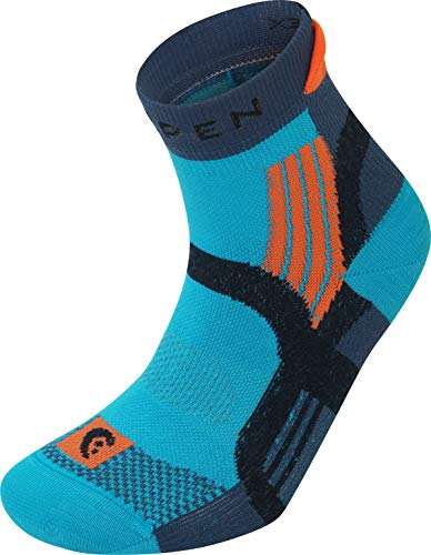 Lorpen X3TW Womens Trail Running Calcetines, B-4153 Turquoise, M Unisex Adultos