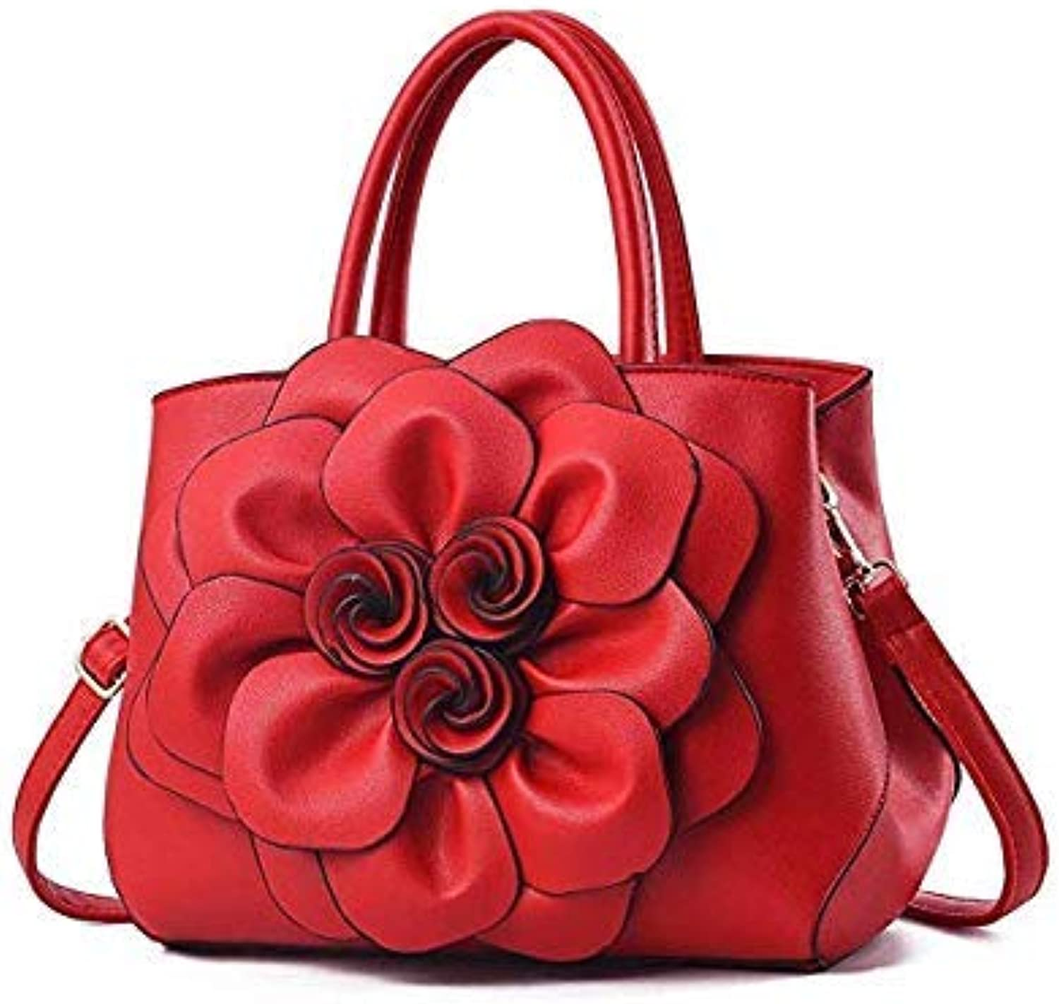 Bloomerang Gykaeo Luxury Handbags Women Bags Designer PU Leather Floral Tote Bag Ladies Casual Flower Messenger Shoulder Bags Bolsos women color Red