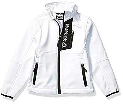 Reebok Boys' Little Active Super Soft Shell Jacket, All Star White, 7