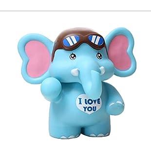 Xdorra Birthday Gift Unbreakable Elephant Coin bank Box - Big Size Blue Soft Touch Animal Saving Money Box Elephant Piggy bank - Home Decor Elephant Money Tank for Kid's or Children's Birthday Gifts:Porcelanatoliquido3d