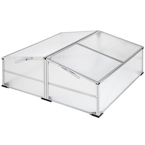 TecTake Alu Frühbeet Frühbeetkasten Pflanzbeet | arretierbares Dach | witterungsbeständig - Diverse Modelle (Modell 2 | Nr. 402341)