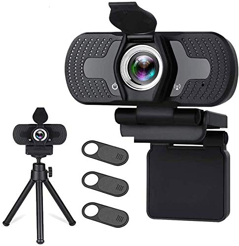 Webcam with Microphone for Desktop,1080P HD USB Webcam Live Streaming Laptop PC Computer Web Camera for Video Calling Conferencing Recording Gaming, AutoFocus 3D Noise Reduction
