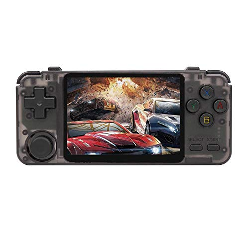 RK2020 Retro Console 3.5inch IPS Screen Portable Handheld Game Console PS1 N64 Games Video Game Player rk2020 (Black)