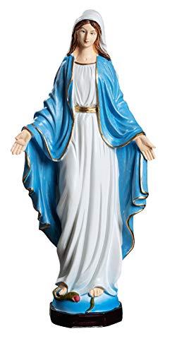 Reproducción de Estatua Virgen Milagrosa Sombrero Nuestra Señora de la Medalla Milagrososa (Color, 24 cm)