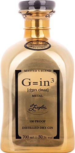 Ziegler G=in³ Classic Dry Gin Metal Gold Edition (1 x 0.7 L)