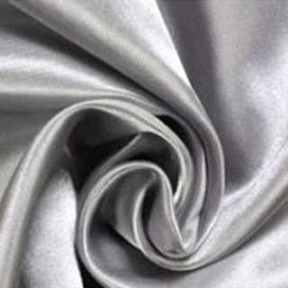 FidgetGear 100x200cm Satin Silk Door Window Curtain Voile Drape Sheer Scarf Valances Silver Gray