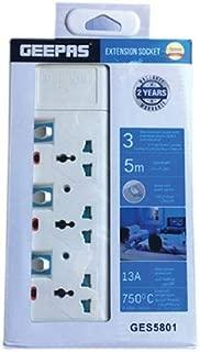 Geepas GES5801 3 Way  Extension Socket