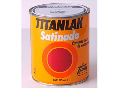 Titanlux - Esmalte-Laca poliuretano satinada Titanlak, Blanco, 4L (ref. 011140004)