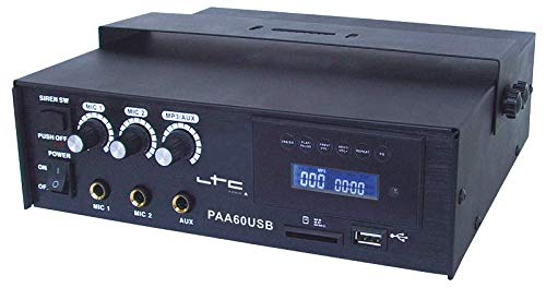 LTC PAA60USB 3-KANAL ELA VERSTÄRKER MIT USB SD BT 60W PARTY DISCO MUSIK EVENT DJ BÜHNE LAUTSPRECHER SOUNDSYSTEM