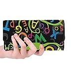 Borsa lunga del supporto della carta di credito della borsa lunga del portafoglio del raccoglitore lungo delle donne variopinte astratte personalizzate delle lettere