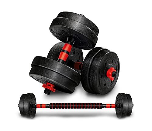 Ducomi Hulk Set Pesi, 3 in 1 Coppia Manubri Regolabili e Bilanciere Multifunzione Donna Uomo 40 kg - Kit per Allenarsi Body Building, Pesistica Fitness, Allenamento, Palestra Casa (2 x 20 kg)