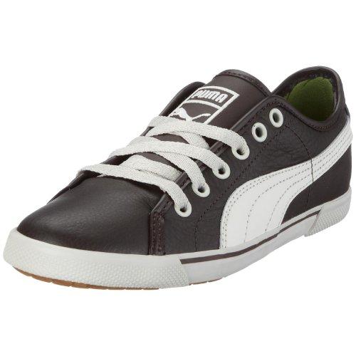 PUMA Unisex-Erwachsene Benecio Leather Sneaker, Braun/Black Coffee-Silver Birch, 39 EU