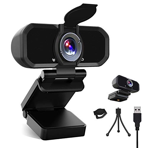 Desktop Webcam for Video Calling Recording Conferencing HD PC Webcam Laptop Plug and Play USB Webcam Streaming Computer Web Camera with 110-Degree View Angle Castries 1080P Webcam with Microphone