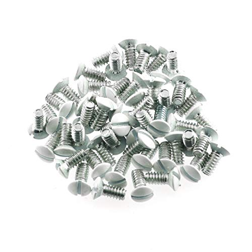 Maxmoral 50pcs Wallplate Screws White Replacement Wall Plate Mounting Screws 5/16'
