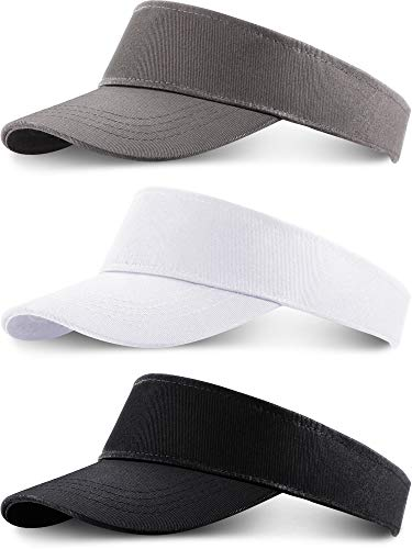 3 Pieces Tooddler Sun Visor Caps Children Adjustable Sports Sun Hats for Kids (Color 1)