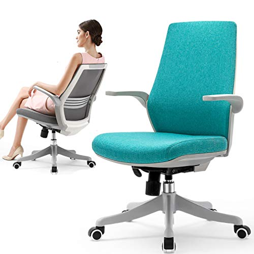 MYGIRLE Mid-Back Home Arbeitsstuhl, Teens Komfort Ergonomische Gaming Chair,Turquoise