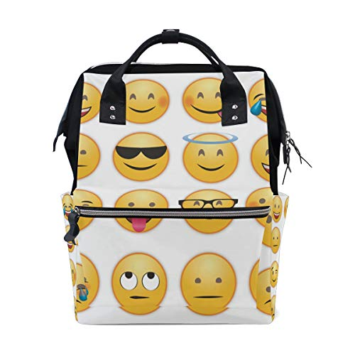 Grappige Emoji Chat Emoticon Luier Baby Tas Rugzak voor Moeder Vrouwen Nappy Tas Multi-Functie Grote Rugzak Reizen School College Outdoor