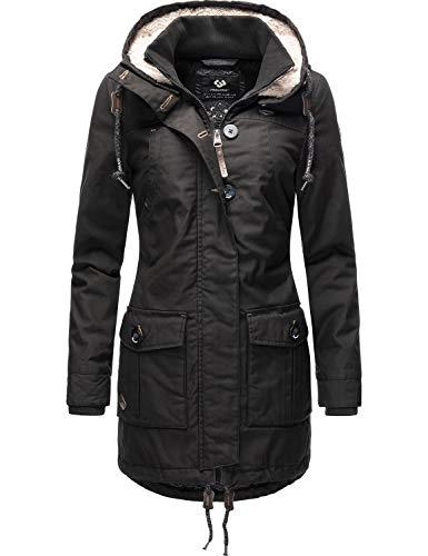 Ragwear Damen Wintermantel Winterparka Jane Black Label Schwarz20 Gr. XS