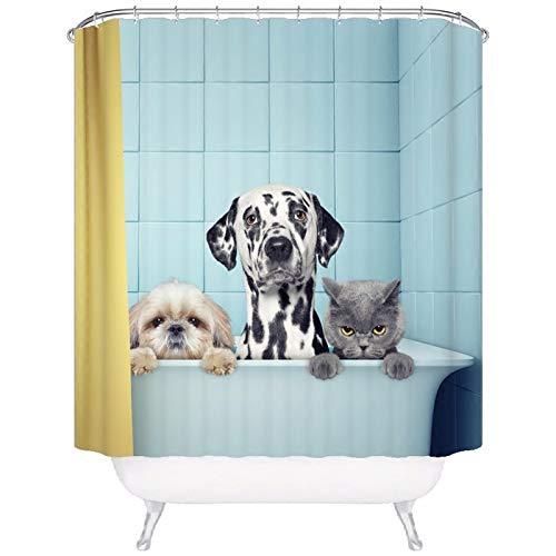 PEIWENIN Rideau de Douche en Polyester imperméable au mildiou épaississant Isolant Rideau en séparateur de WC, Largeur: 180cm * Hauteur: 200cm