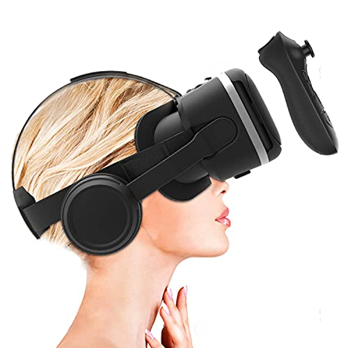 Irusu Play VR Plus Virtual Reality Headset with Headphones and Remote Controller Android Mobiles(Black)