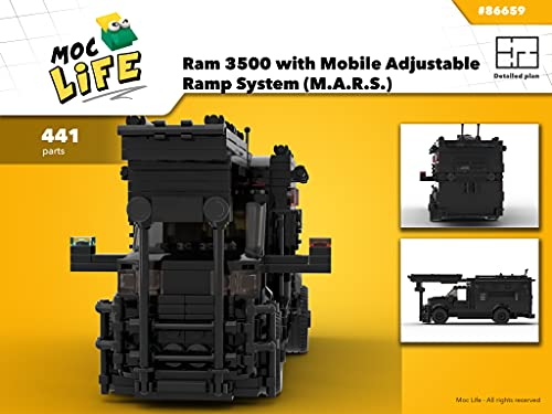 Ram 3500 with Mobile Adjustable Ramp System (M.A.R.S.) (Instruction Only): Moc Life (S.W.A.T. team Book 13) (English Edition)